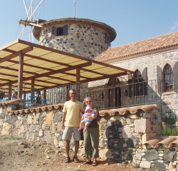 Wind mill restored by Koc in Ayvalik
