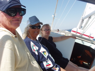 Sailing at 8 knots to Ayvalik